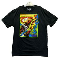 Coca-Cola Men's Always! Pop! Neon Graphic Licensed T-Shirt Size XL Black New