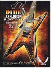 Dean Guitars - Dime Explosion Razorback - Dimebag Darrell -  2007 Advertisement