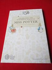 150th Nuovo di Zecca ann. Beatrix Potter da collezione album 2016 50p Coin Hunt + Tiggy