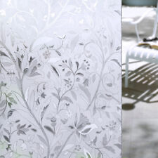 45*100CM PVC Proof Cling Frosted Stained Floral Glass Window Film Sticker Decor