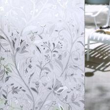 45 * 100cm PVC sicher Klebe mattiert Buntglas Blumenmuster Glasfenster Folie