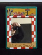 """Sticks Furniture Hand Painted Mirror Give A Toast 16x12"""" EXC"""