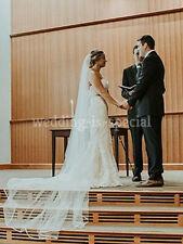 "High Quality Diamond White Wedding Bridal Veil 1 Tier Cathedral Satin Edge 98"""