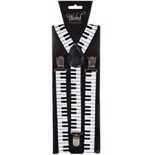 années 80 année 1980 Piano Déguisement Bretelles Réglable Blanc/Noir Musique