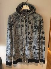 Enyce Clothing Co. Zippered Jacket Hoodie XL Pattern Spell Out EUC