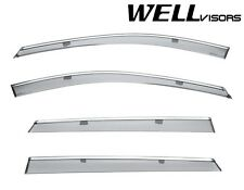 WellVisors Side Window Visors Deflectors W/ Chrome Trim For 16-Up Mazda CX-9
