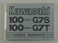 Owner's Manual/Handbook Kawasaki 100 Model G 7 S/G 7 T from 1974