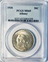 1936 Albany Commemorative Silver Half Dollar - PCGS MS-65 - Mint State 65