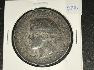 [SPPI] Philippines 1897 UN Peso Silver Coin - Lot#232