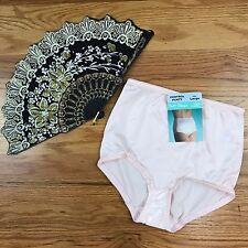 VTG Womens Nylon Silky High Waisted Underwear Brief Lg Pink Light Control NWT AJ