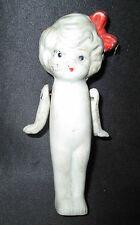 ancienne poupée bras articulé en biscuit peint art déco début milieu XX ème