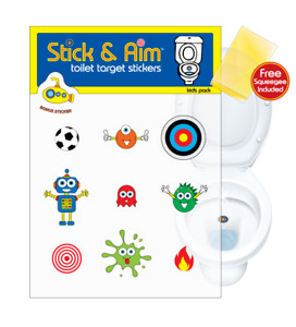 Kids Pack - Toilet Target Stickers for Toilet Training and Bathroom Cleanliness