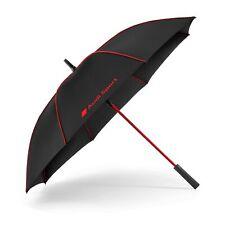 Original Audi Sport Stockschirm, groß, schwarz/rot, Regenschirm Schirm