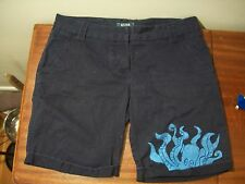 Octopus sea creature Release the kraken knee length shorts Navy blue sz 8