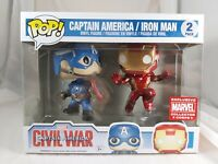 Marvel Funko Pop - Captain America / Iron Man 2 Pack - Collector Corps