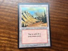 Miscut Arabian Nights Mountain Misprint GENUINE MTG Magic Vintage EDH #2
