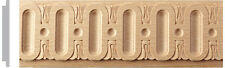 """2""""W X 1/4""""TH X 96""""L, 10pc, 80ft. Hard Wood Ornate Fluted Moulding Trim Molding"""