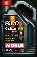 5 Liter MOTUL 8100 X-CLEAN FE 5W-30 Motoröl Opel dexos2 MB 229.51 C2 / C3 VW