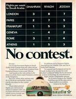 1980 Original Advertising' Saudi Arabian Airlines Company Aerial Saudia No