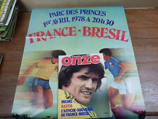 Football Magazine ONZE (MONDIAL) No 27 (1978) Poster FRANCE-BRESIL + MAX BOSSIS