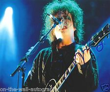 THE CURE ROBERT SMITH HAND SIGNED AUTOGRAPHED LIVE PHOTO! RARE WITH PROOF+C.O.A.