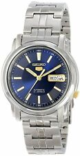 Seiko 5 SNKL79 Automatic Day-Date Blue Dial Stainless Steel Men's Watch SNKL79K1