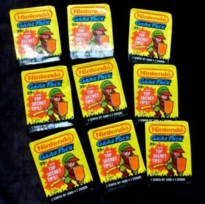 NINTENDO 1989 LINK US Game pack wrapper only x 9   NO CARDS INCL.