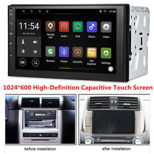 Universal 7'' Android 8.0 WiFi 2Din Car Radio Stereo GPS Navi Multimedia Player