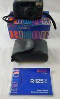 VINTAGE Ricoh R-125Z  Multi-AF ZOOM 35mm Camera with Manual, Case & Original Box