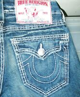 *HOT Men's TRUE RELIGION @ JOEY BIG T FLARED BOOTCUT Jeans 29 x 33 (Fit 30 x 33)