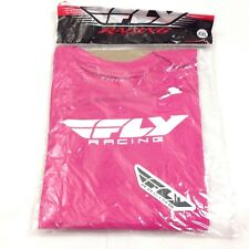 Fly Racing C8 Women's Tshirt Top Size XXL Pink Shortsleeve Logo Casual Shirt New