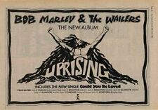 Bob Marley & The Wailers Uprising Tour Advert NME Cutting 1980