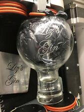Personalised Engraved Large 540ml Thick Stem Gin Glass With Coaster - G & T Wine
