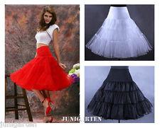 Petticoat Tüllrock Rockabilly 50er 60er Jahre weiss schwarz rot Dirndl Rock R16