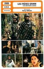FICHE CINEMA : LES FRERES GRIMM - Damon,Ledger,Bellucci 2005 The Brother's Grimm