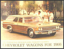 1966 Chevy Chevrolet Station Wagon Brochure Impala Original