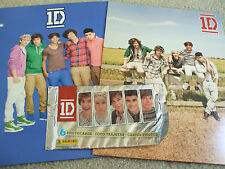 TWO 1D One Direction Portfolio Pocket Folders for 3 Ring NEW Bonus 6 Photo Cards