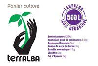 Panier culture POTAGER 50m²-500L : amendements + engrais + mélasse +filtre TCO