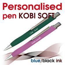 Promotional personalised pen *KOBI SOFT* blue/ black ink * school leavers