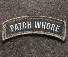 PATCH WHORE ARMY TAB ROCKER TACTICAL OPS SWAT VELCRO® BRAND FASTENER PATCH