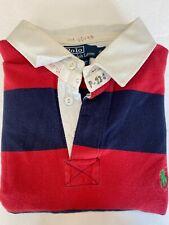 Polo Ralph Lauren SS Rugby Shirt Men's XL Cotton Checks Stripes