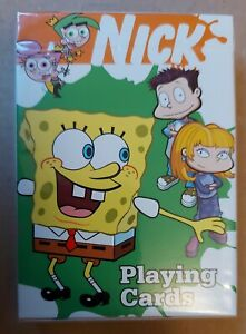 NICKELODEON PLAYING CARDS _ 2004 _ SEALED NM _ SPONGEBOB _ ALL GROWN UP _ RARE _