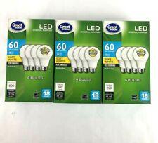 12 PACK LED 60W = 9W Soft White 60 Watt Equivalent A19 2700K E26 light bulb