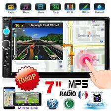 "7"" Autoradio 2 DIN Bluetooth MP5 Stéréo FM USB IOS/Android Mirror Link + Caméra"