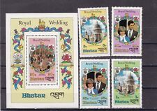 Bhutan 1981 royal wedding ,Sc 317/21 set MNH      e678