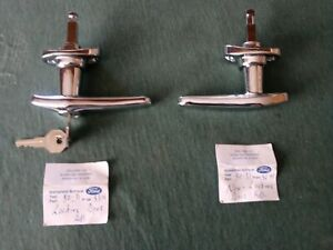 Pair Exterior Chrome Door Handles For 1930-1931 Ford Model A-With+Without Key