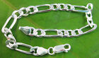MADE IN ITALY 925 Sterling Silver 6mm FIGARO 18 to 25.5cm BRACELET ANKLET unisex