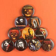 "Halloween 1"" Button Pin Set Michael Myers John Carpenter Horror Slasher Classic"