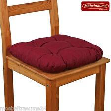 Bis zu 500 Sitzkissen 38 x 38 x 8 cm in rot Stuhlkissen Kissen Softkissen neu