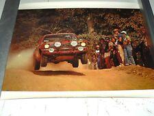 Affiche d'époque OPEL RALLYE Italia  sport auto  car course Poster